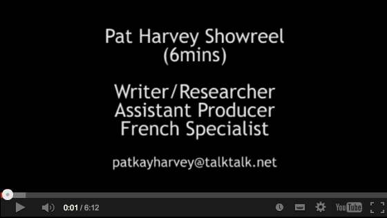 View Pat's YouTube Showreel!
